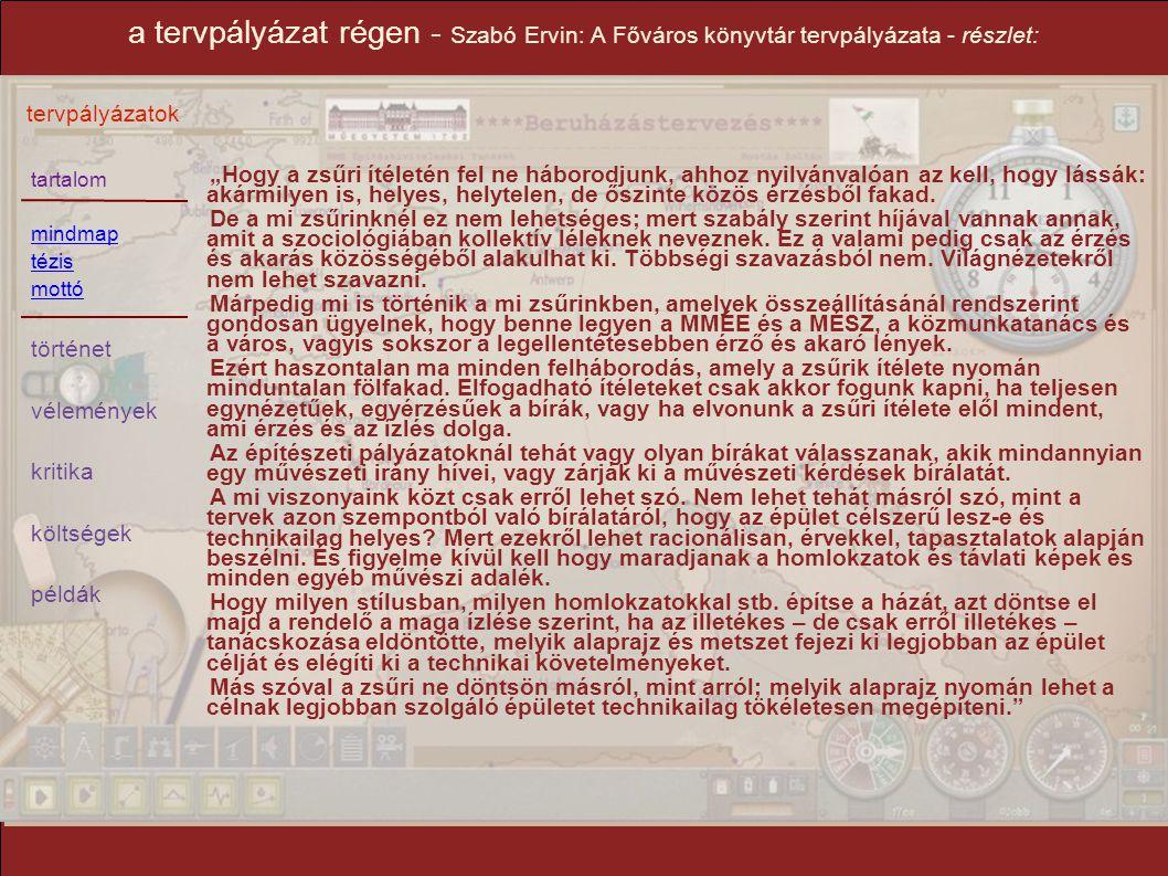 a tervpályázat régen - Szabó Ervin: A Főváros könyvtár tervpályázata - részlet: