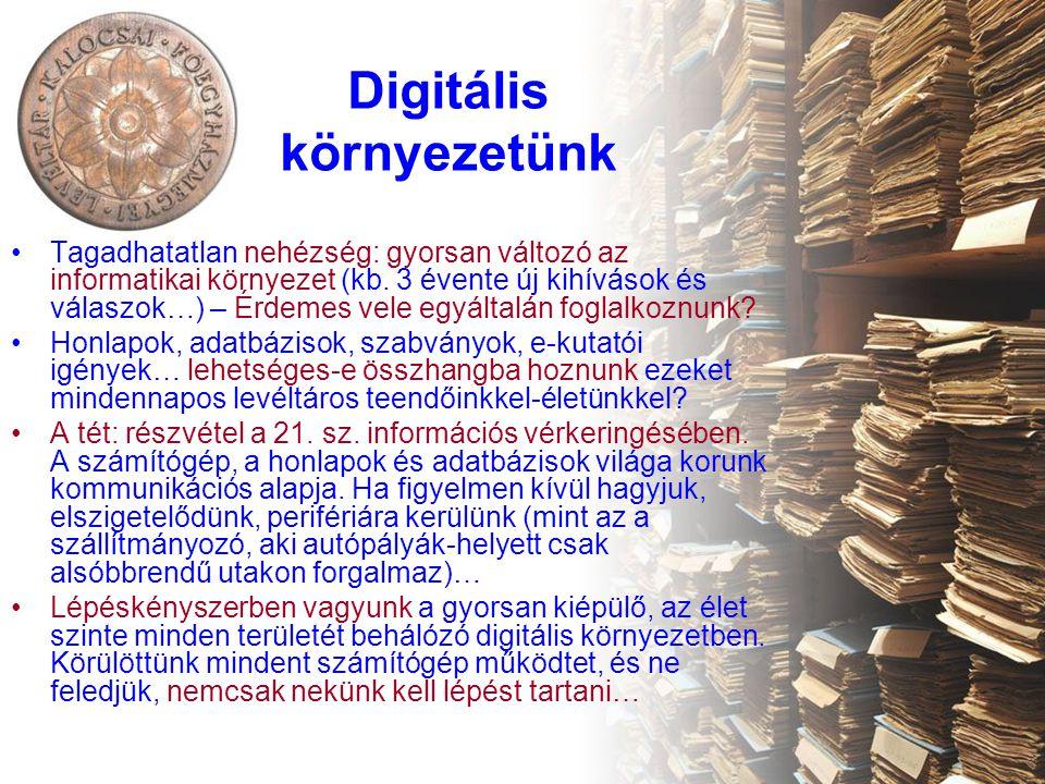 Digitális környezetünk