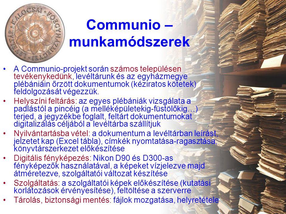 Communio – munkamódszerek