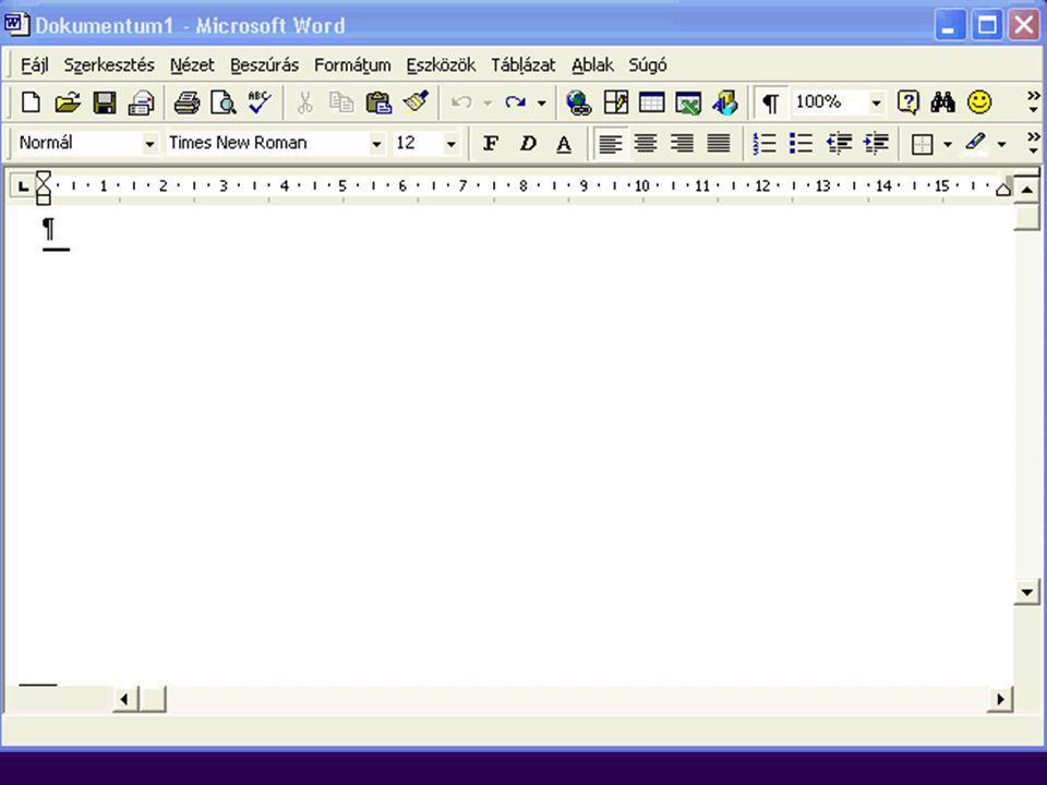 Szövegszerkesztés: Microsoft Word