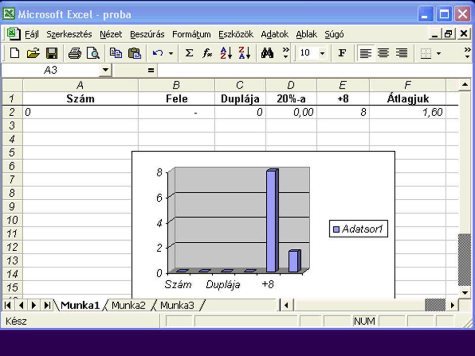 Táblázatkezelés: Microsoft Excel