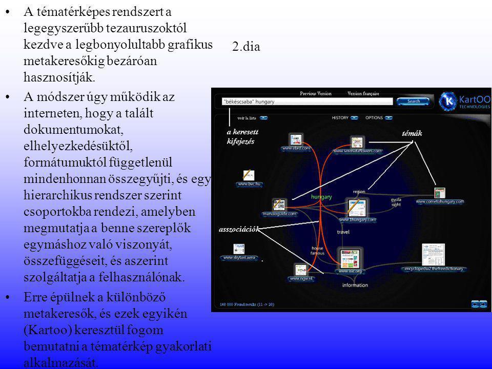 A tématérképes rendszert a legegyszerűbb tezauruszoktól kezdve a legbonyolultabb grafikus metakeresőkig bezáróan hasznosítják.