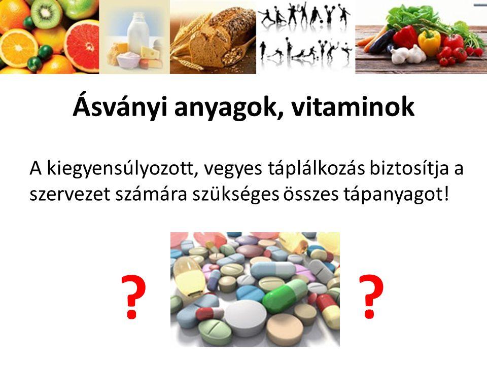 Ásványi anyagok, vitaminok