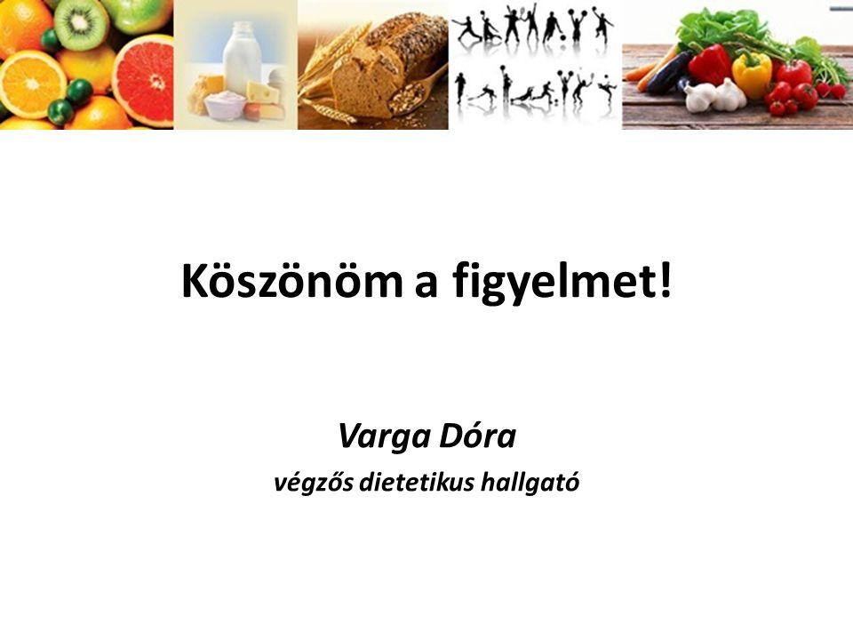 végzős dietetikus hallgató