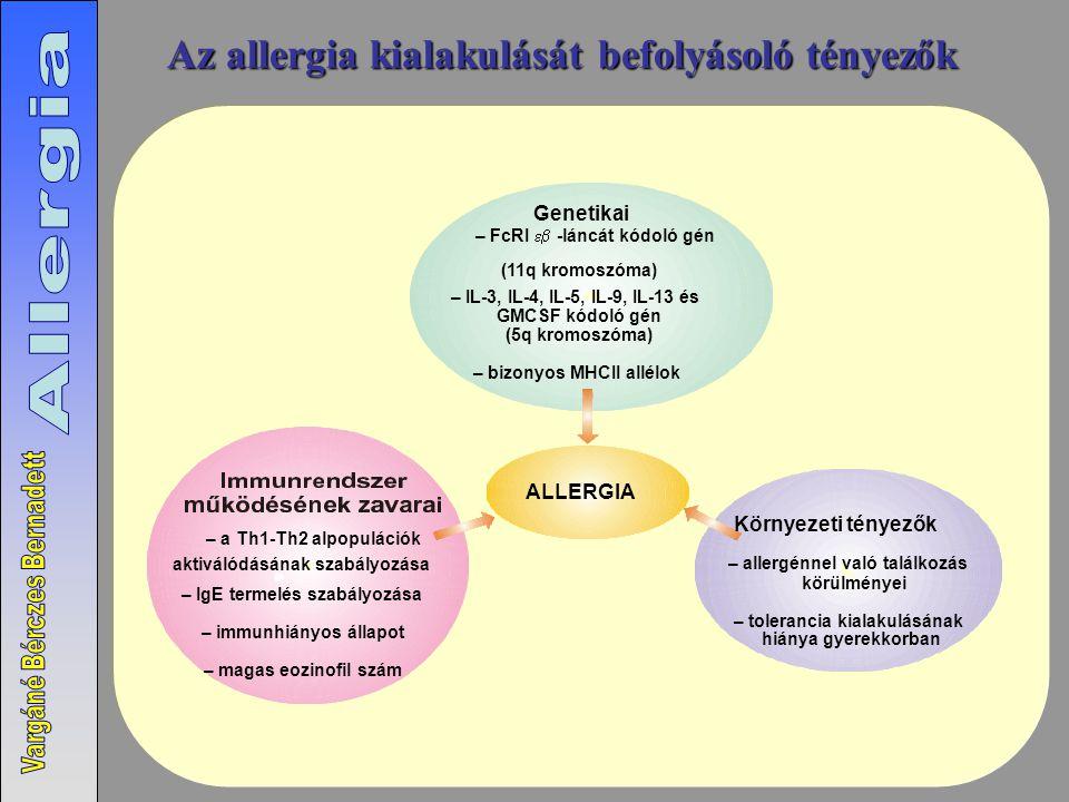 Az allergia kialakulását befolyásoló tényezők