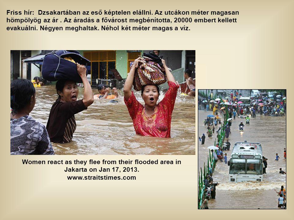 Friss hír: Dzsakartában az eső képtelen elállni