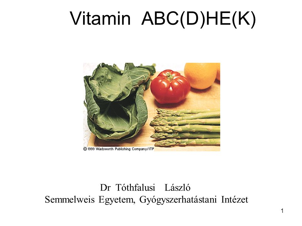 Vitamin ABC(D)HE(K) Dr Tóthfalusi László