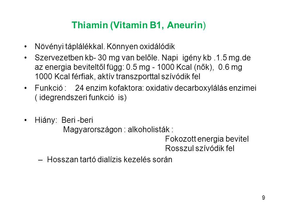 Thiamin (Vitamin B1, Aneurin)