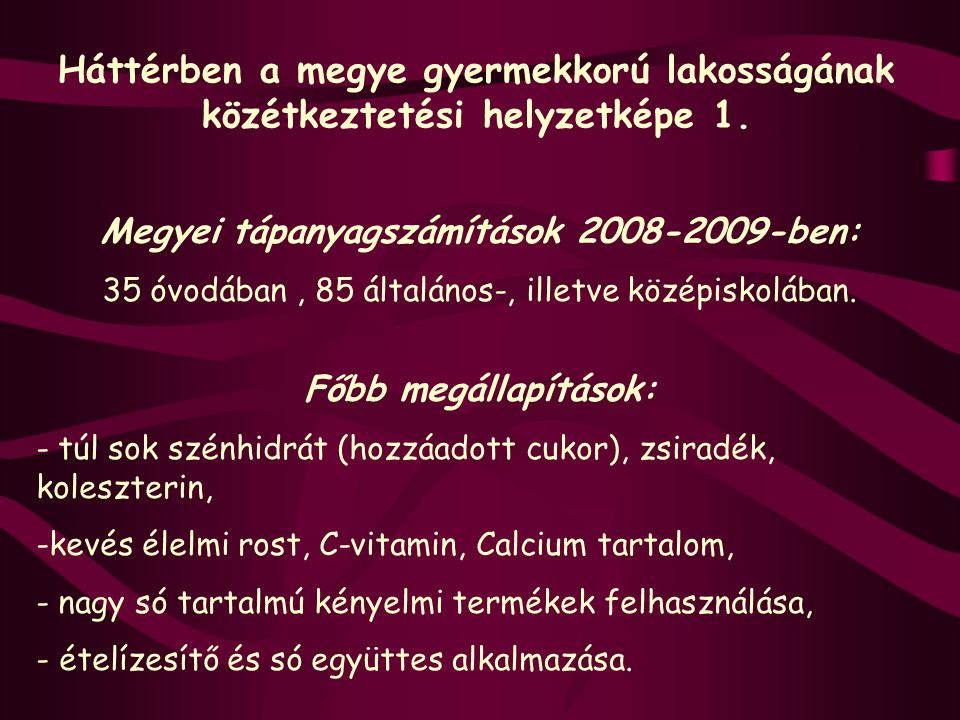 Megyei tápanyagszámítások 2008-2009-ben: