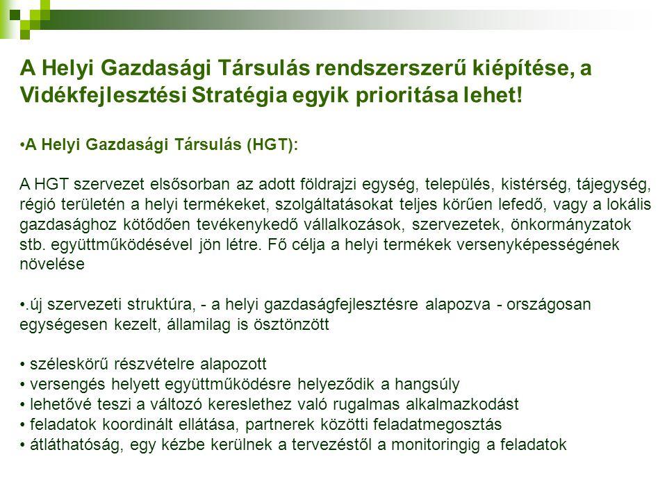 A Helyi Gazdasági Társulás rendszerszerű kiépítése, a Vidékfejlesztési Stratégia egyik prioritása lehet!