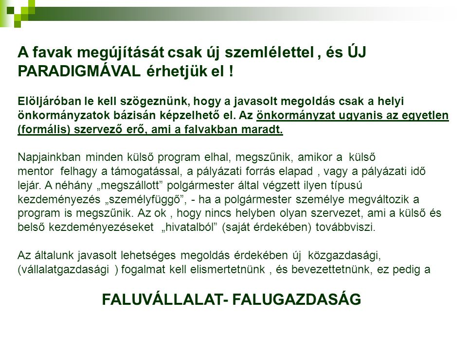 FALUVÁLLALAT- FALUGAZDASÁG