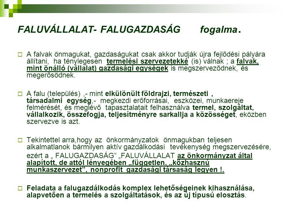 FALUVÁLLALAT- FALUGAZDASÁG fogalma.