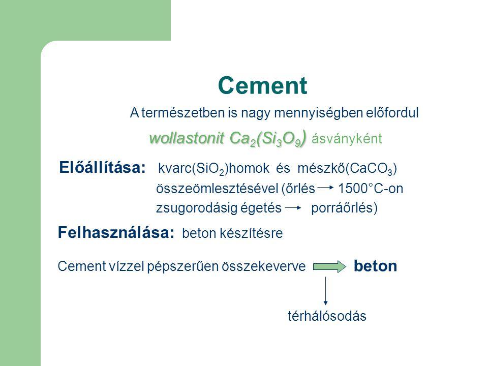 Cement wollastonit Ca2(Si3O9) ásványként