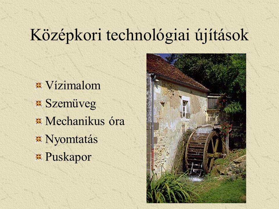 Középkori technológiai újítások