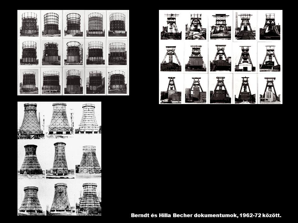 Berndt és Hilla Becher dokumentumok, 1962-72 között.