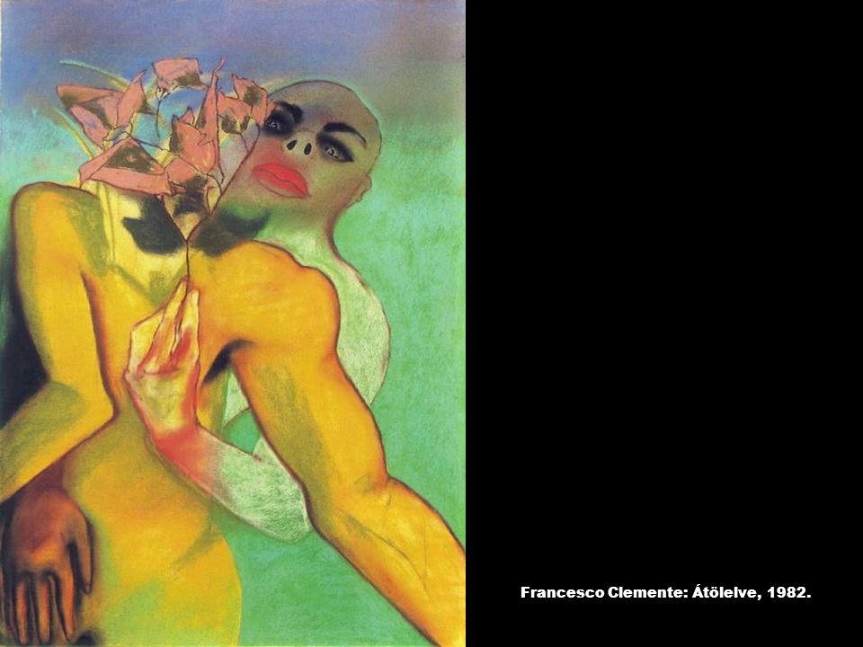 Francesco Clemente: Átölelve, 1982.