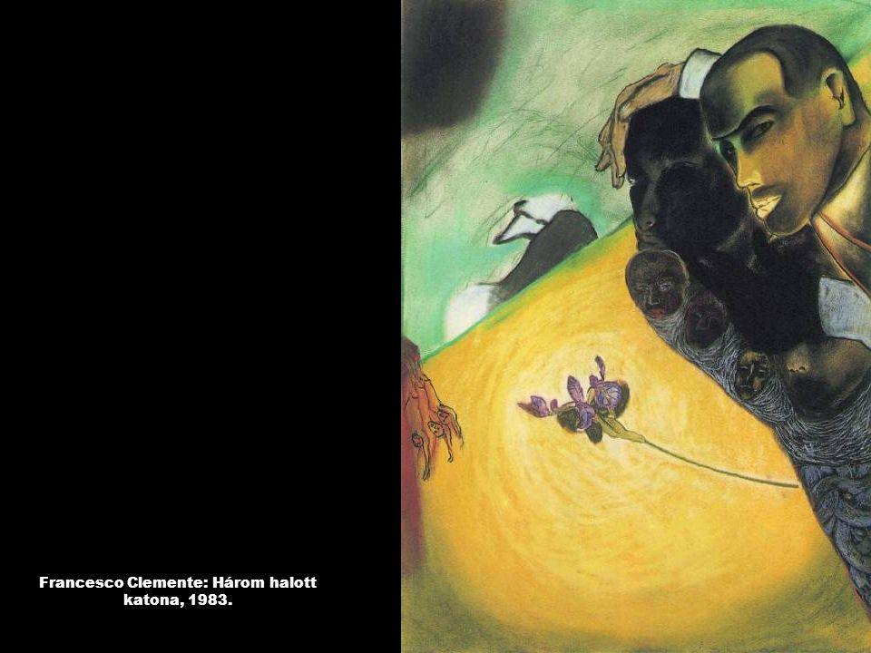 Francesco Clemente: Három halott katona, 1983.