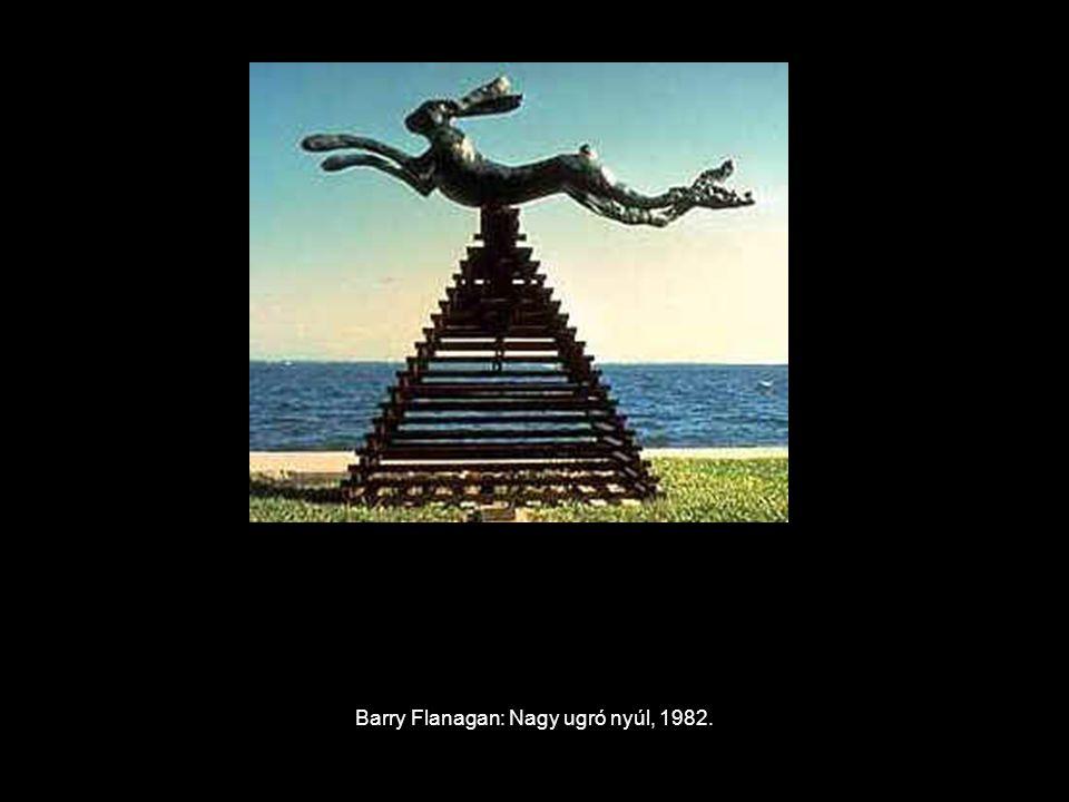 Barry Flanagan: Nagy ugró nyúl, 1982.