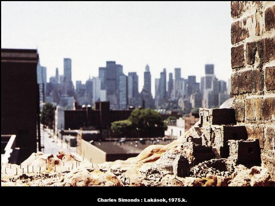 Charles Simonds : Lakások, 1975.k.