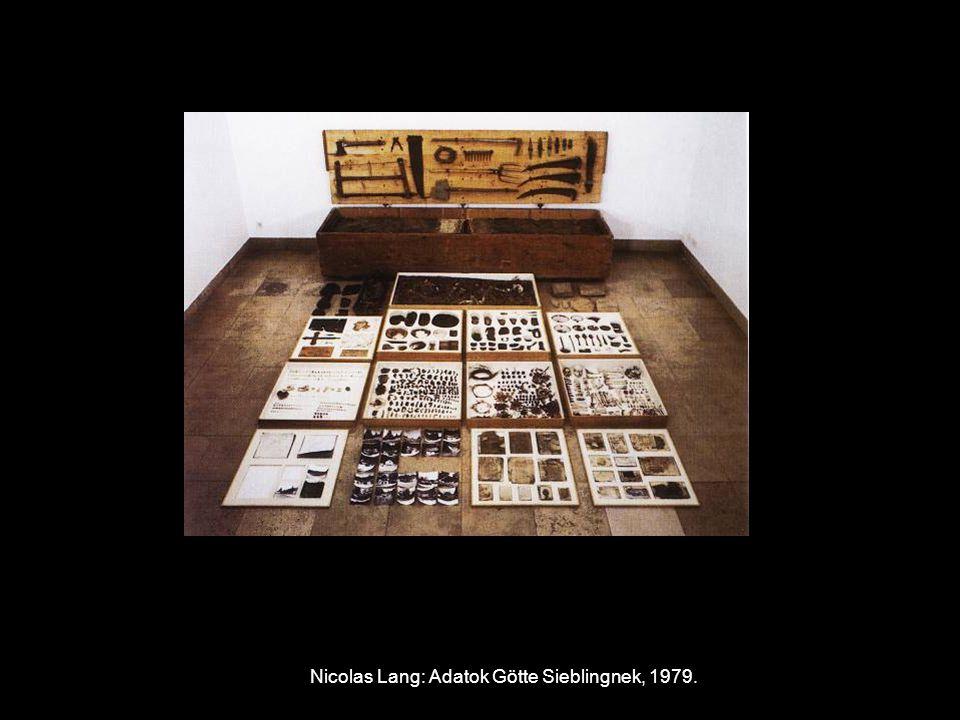 Nicolas Lang: Adatok Götte Sieblingnek, 1979.