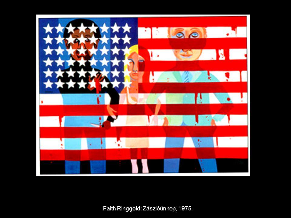 Faith Ringgold: Zászlóünnep, 1975.