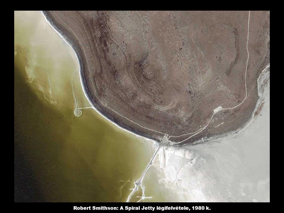 Robert Smithson: A Spiral Jetty légifelvétele, 1980 k.
