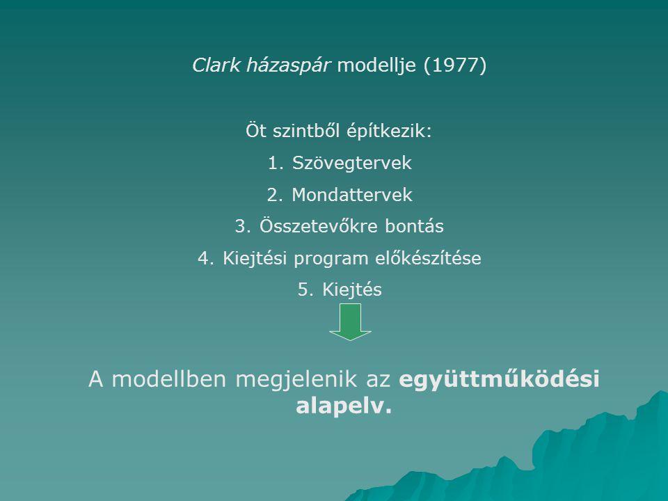 A modellben megjelenik az együttműködési alapelv.
