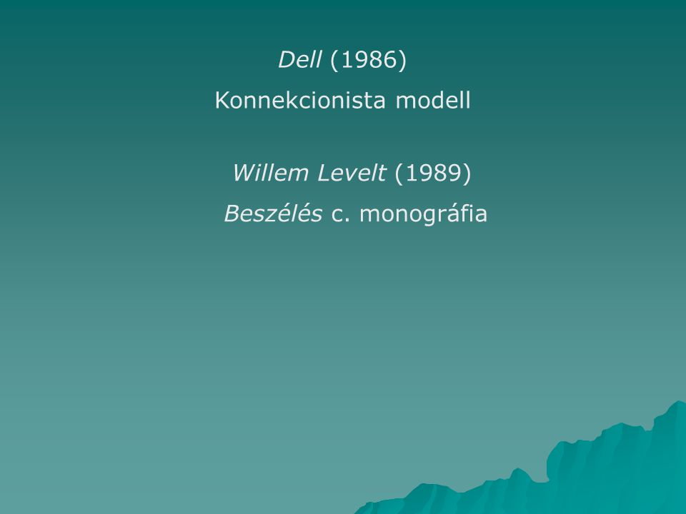 Konnekcionista modell