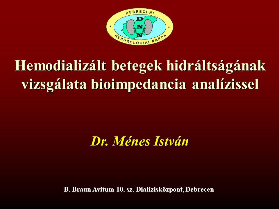Hemodializált betegek hidráltságának