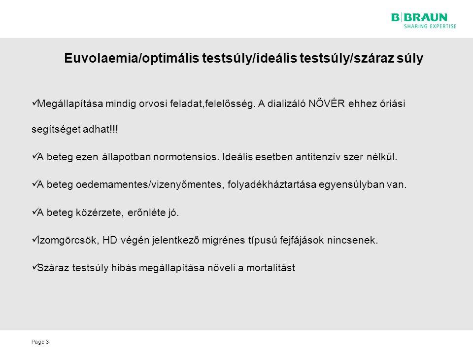 Euvolaemia/optimális testsúly/ideális testsúly/száraz súly