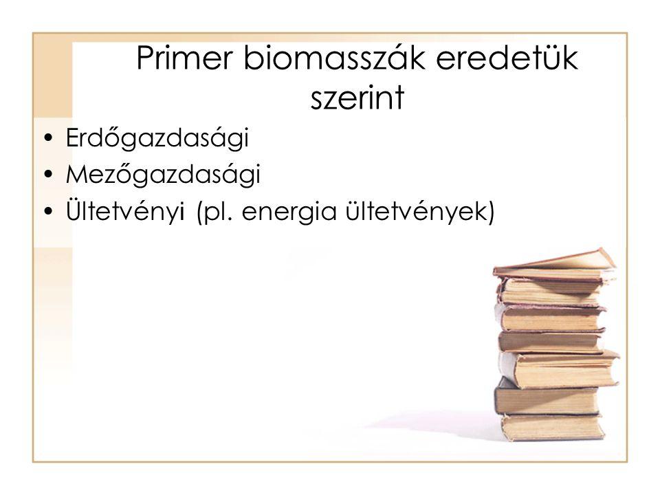 Primer biomasszák eredetük szerint