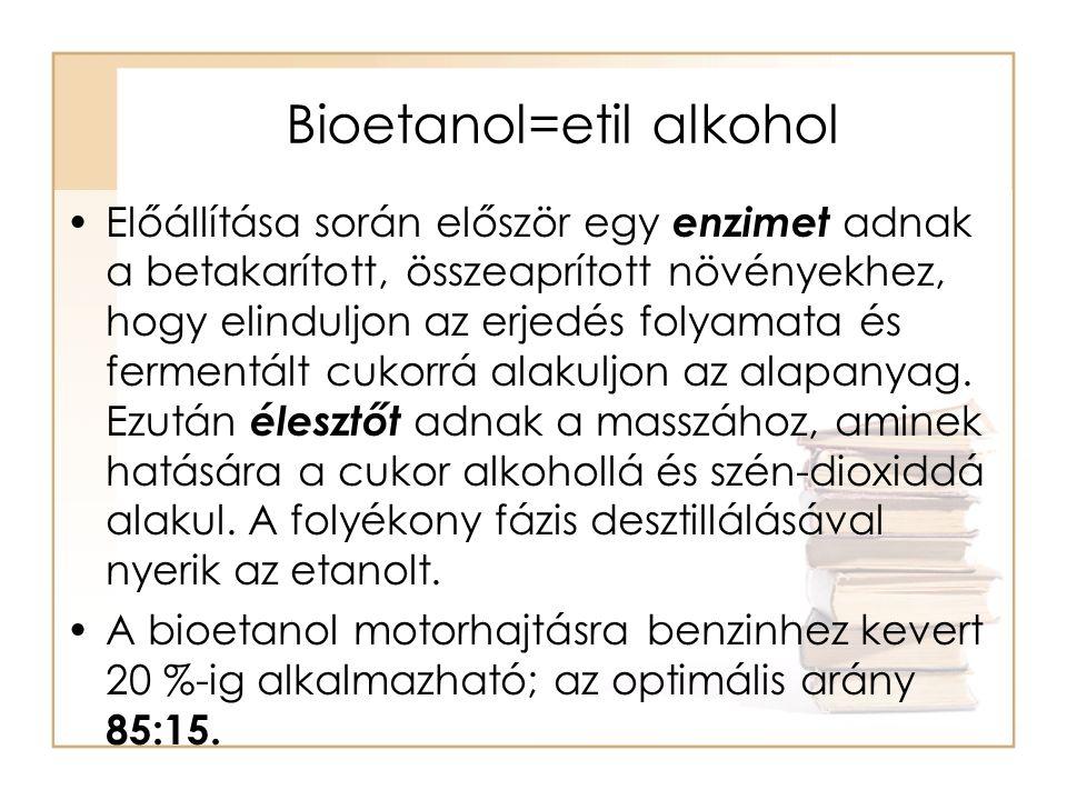 Bioetanol=etil alkohol