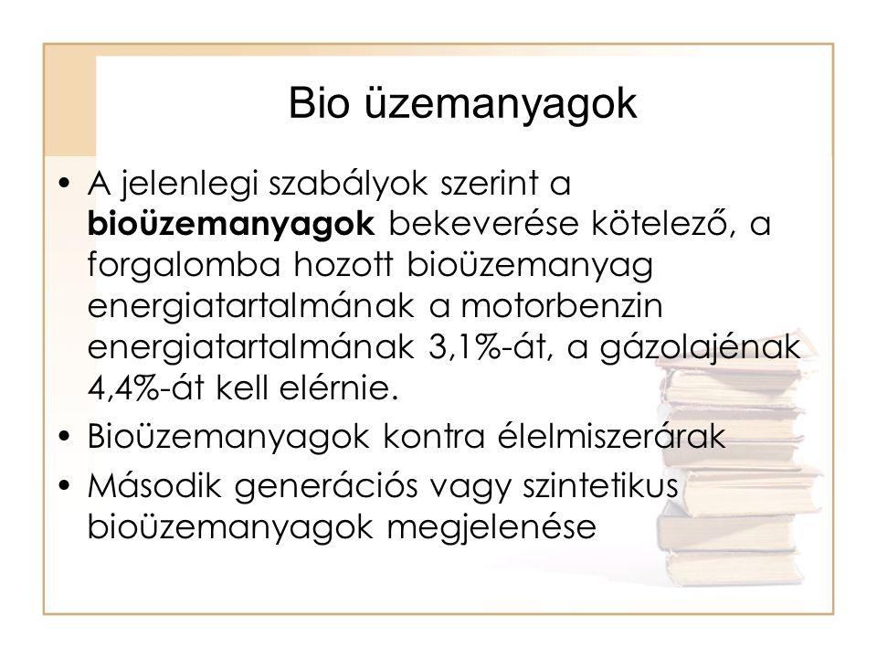 Bio üzemanyagok