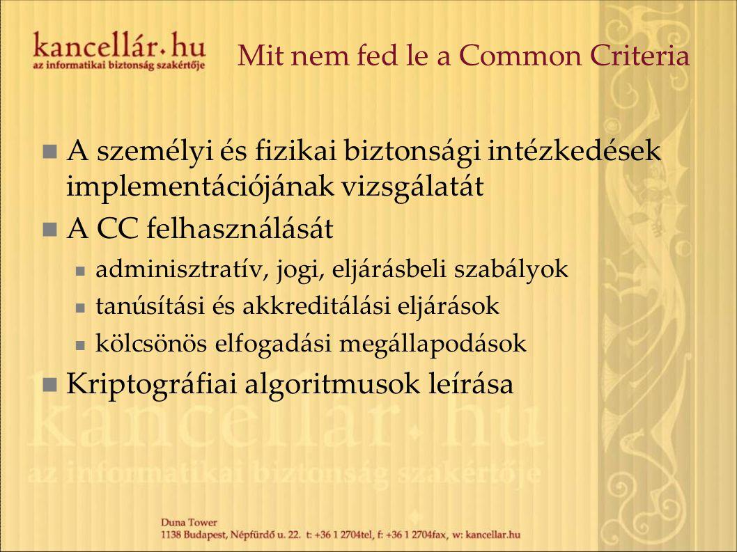 Mit nem fed le a Common Criteria