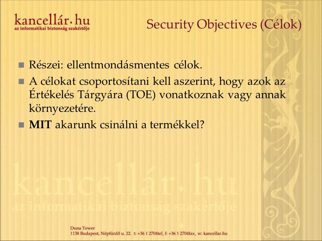 Security Objectives (Célok)