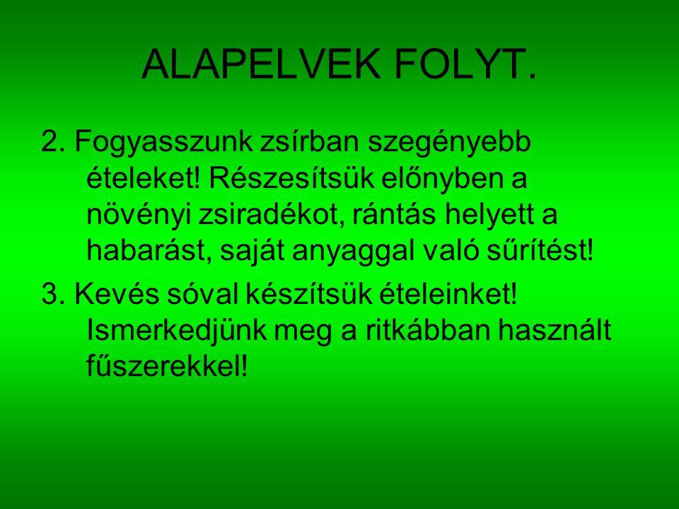 ALAPELVEK FOLYT.