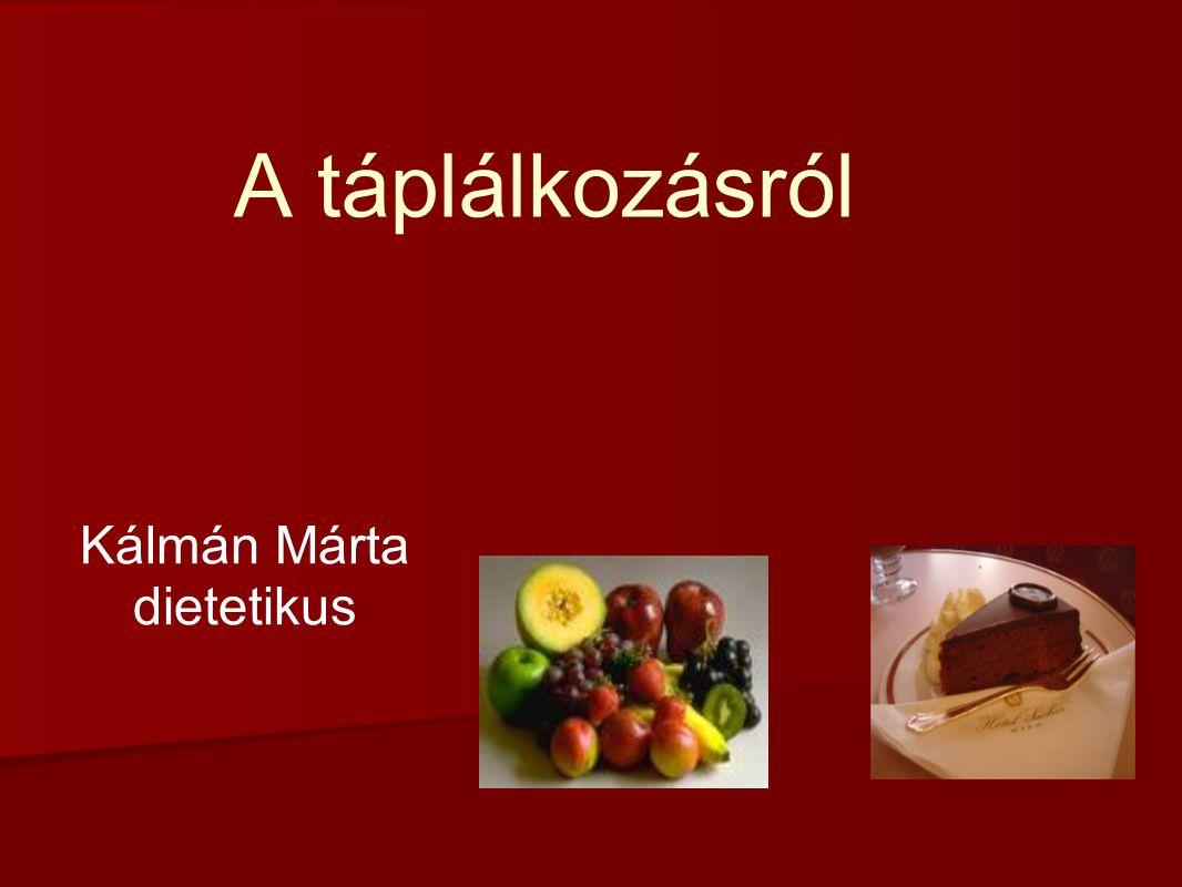 Kálmán Márta dietetikus