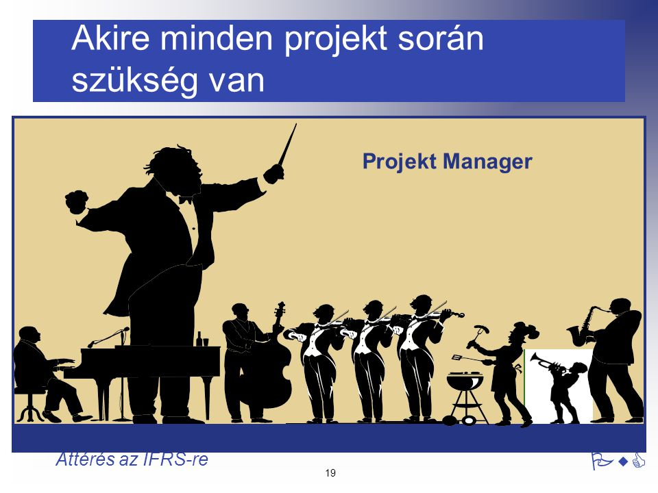 Akire minden projekt során szükség van