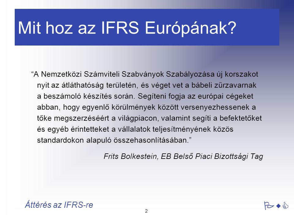 Mit hoz az IFRS Európának