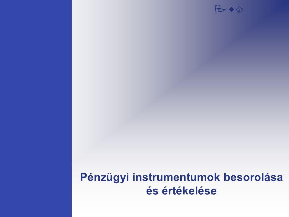 Pénzügyi instrumentumok besorolása és értékelése