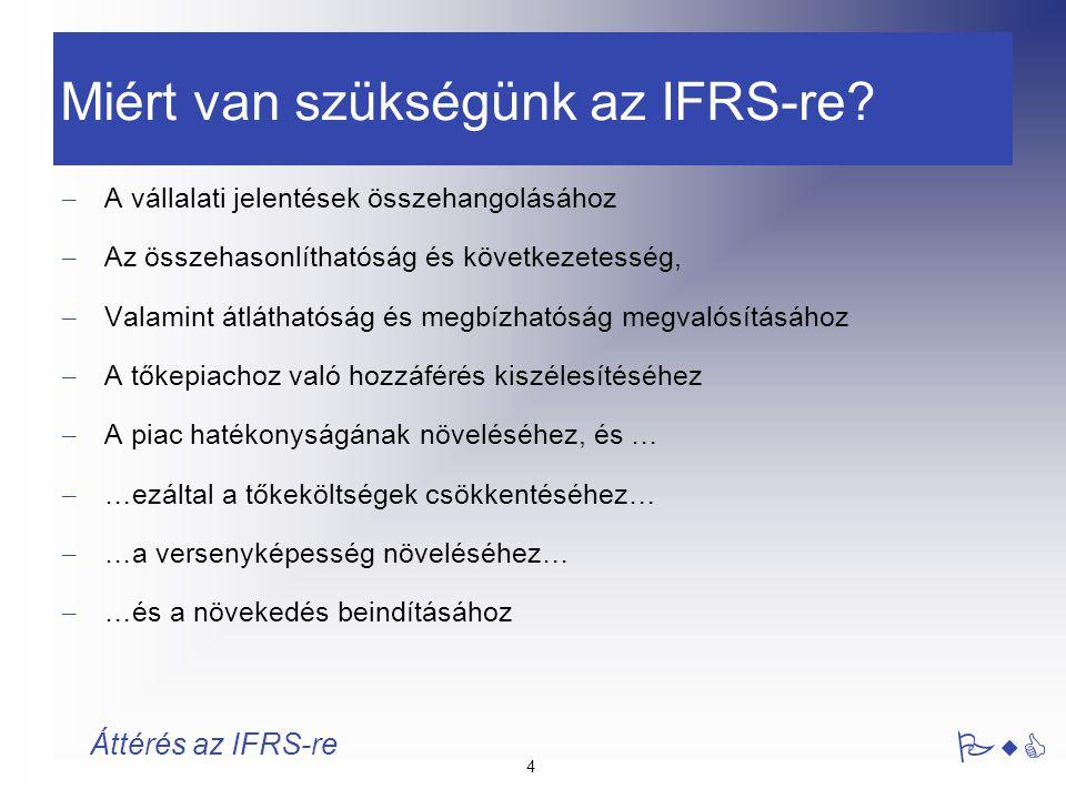 Miért van szükségünk az IFRS-re