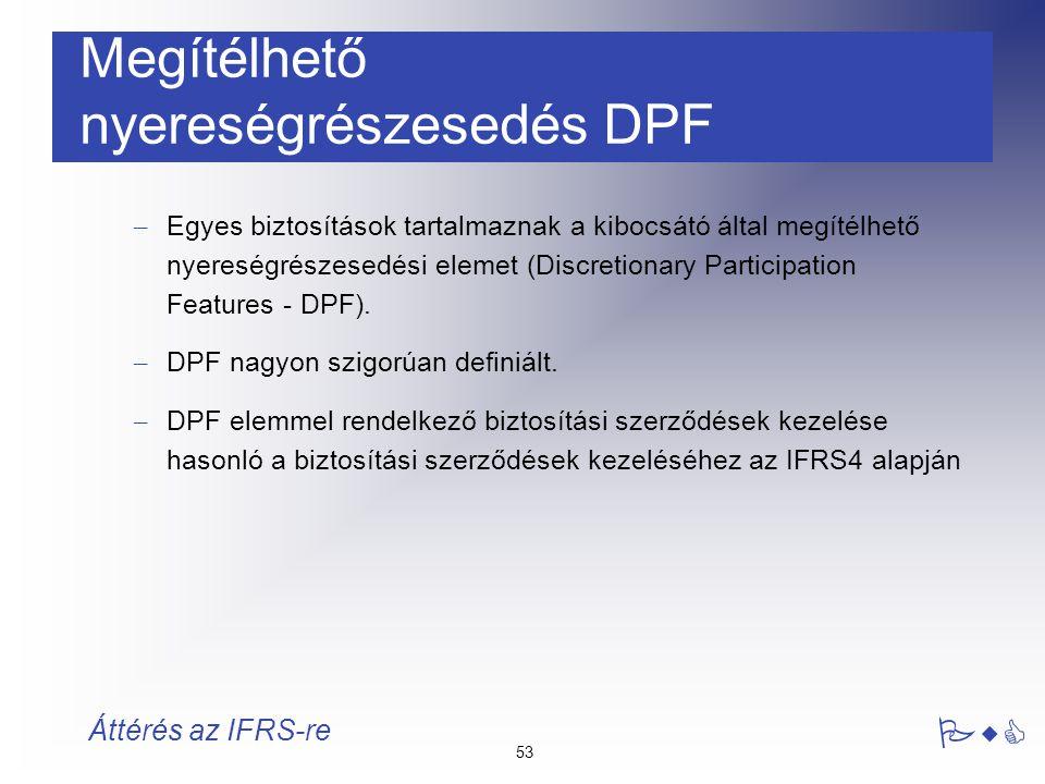 Megítélhető nyereségrészesedés DPF