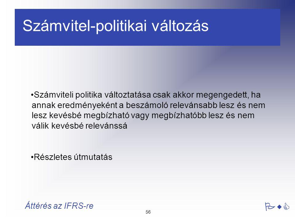 Számvitel-politikai változás