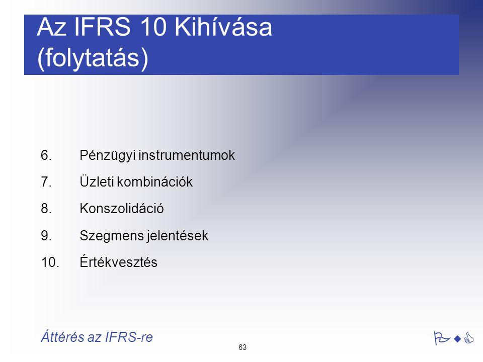 Az IFRS 10 Kihívása (folytatás)