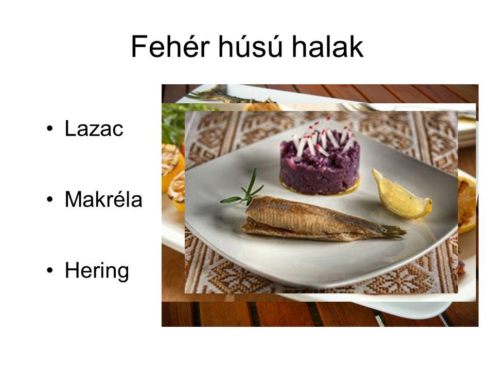 Fehér húsú halak Lazac Makréla Hering