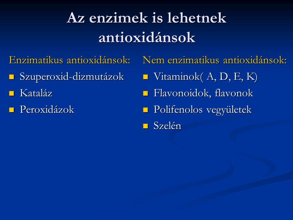 Az enzimek is lehetnek antioxidánsok