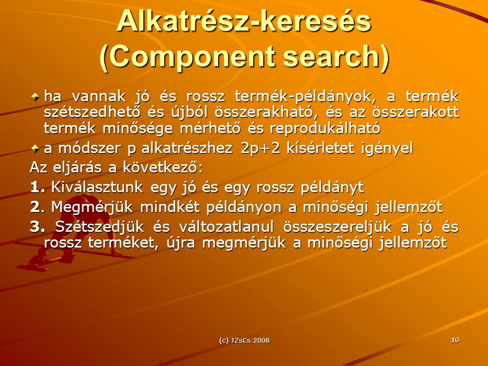 Alkatrész-keresés (Component search)