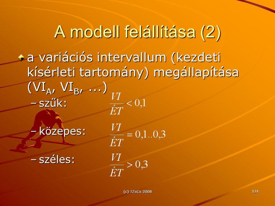 A modell felállítása (2)