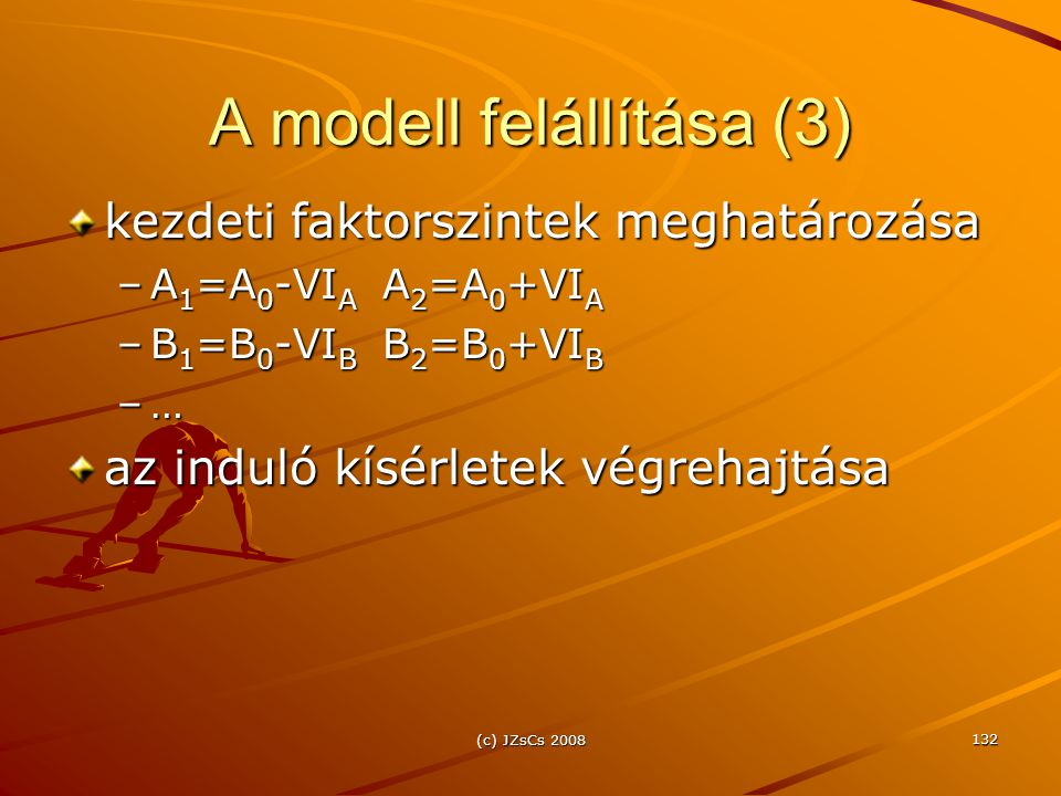A modell felállítása (3)