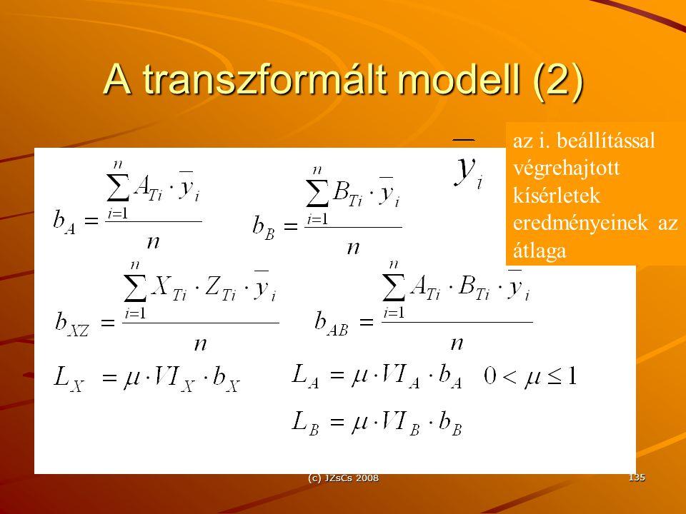 A transzformált modell (2)